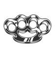 vintage gangster metal brass knuckles template vector image