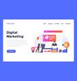web design flat modern design template marketing vector image vector image