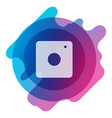 web icon of modern lineart camera digital vector image