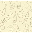 Wine and cocktail seamless background vector image vector image