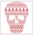winter pattern sugar skull vector image vector image
