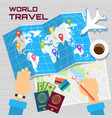 world travel banner vector image vector image