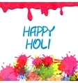 Indian festival colored Happy Holi vector image