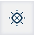 marine steering wheel icon vector image