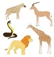 Set 2 of cartoon african animals vector image