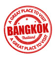 bangkok sign or stamp vector image vector image