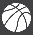 basketball ball solid icon sport and game vector image vector image