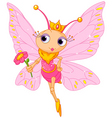 beautiful butterfly princess vector image vector image