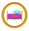 Bed icon vector image vector image