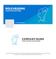 blue business logo template for brainstorm vector image vector image
