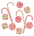 Candy Canes Set5 vector image vector image