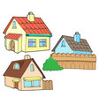 collection of various houses vector image
