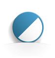 contrast icon paper vector image vector image