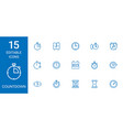 countdown icons vector image vector image