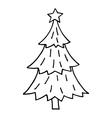 Cute Christmas tree vector image vector image