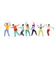 dancing people happy men and women move vector image