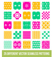 different ornamental geometric big pattern set vector image