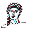 dionysos portrait vector image vector image