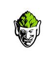 elf wearing hops hat mascot vector image vector image