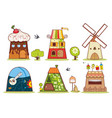 fairy houses on a white background symbolizing vector image vector image