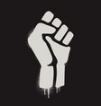 fist raised in protest fist icon isolated vector image