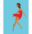 flat geometric design of dancing samba queen vector image vector image