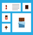flat icon cacao set of chocolate bar sweet vector image vector image