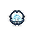 gear bike logo icon design vector image vector image