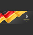 germany unity day greeting card vector image vector image