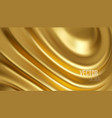 golden shiny liquid waves 3d realistic background vector image