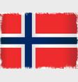 grunge flag of norway vector image