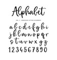 hand drawn alphabet font isolated letters vector image vector image