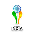 indian republic day card with typogrpahic vector image
