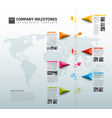 infographic company history timeline template vector image vector image