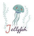 J is for Jellyfish vector image