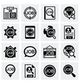 Job search icon set vector image