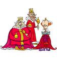 kings cartoon fantasy character group vector image vector image
