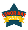 labor day logo icon flat style vector image vector image