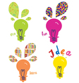 Light bulbs ideas and concepts vector image