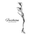 Model Fashion vector image