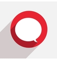 modern bubble speech red circle icon vector image vector image