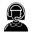 operator icon simple black style vector image vector image