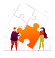 partnership - modern flat design style colorful vector image