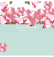Pink flowers bouquet card vector image vector image