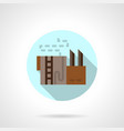 refinery storage flat round icon vector image vector image