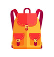 rucksack for girl in orange and red color vector image vector image
