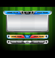 scoreboard for soccer and football vector image