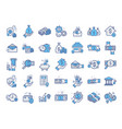 set line icons in flat design concept for vector image vector image
