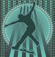 skateboarder vintage design