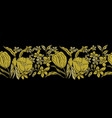 stylized gold tulips vector image vector image
